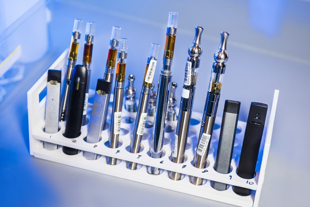 CBD vape pens being tested for quality